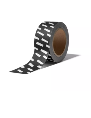 Masking tape Open spaces zwart/wit