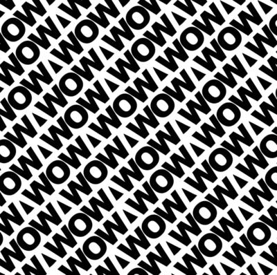 Vloeipapier WOW statement zwart/wit