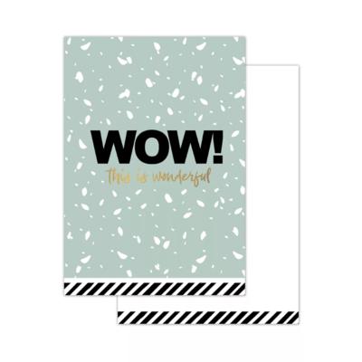 Mini kaartje Wow!