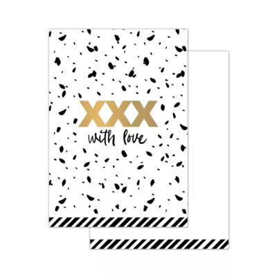 Mini kaartje XXX with love