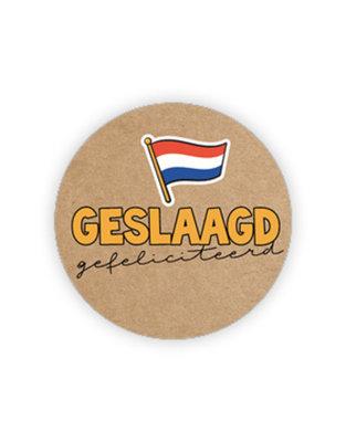 Sticker Geslaagd gefeliciteerd (vlag)