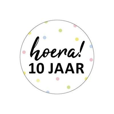 Sticker Hoera! 10 jaar