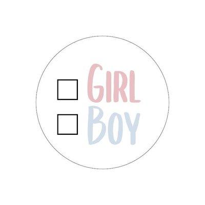 Sticker Keuze girl/boy