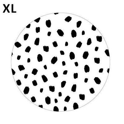 Sticker 101 dots wit/zwart XL
