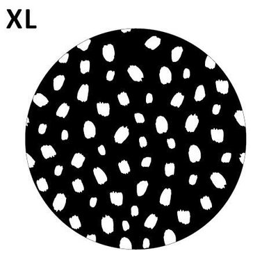 Sticker 101 dots zwart/wit XL