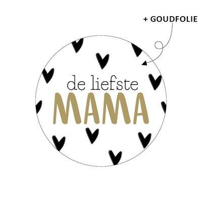 Sticker De liefste mama (hartjes)