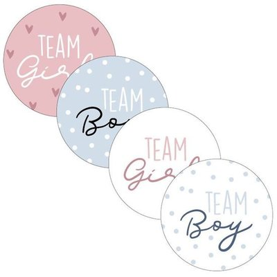 Sticker Team girl/boy assorti