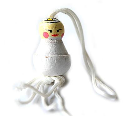 Gelukspoppetje Bruidspaar bruidjes klein