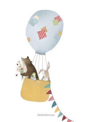 Wenskaart Luchtballon A5