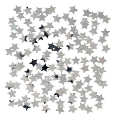 Zakje confetti zilveren sterretjes