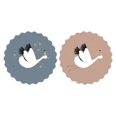 Stickers duo Baby bird