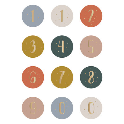Stickers Multi numbers autumn