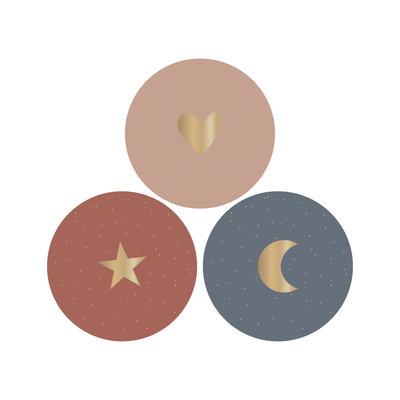 Stickers Multi - Heart/ Star/ Moon