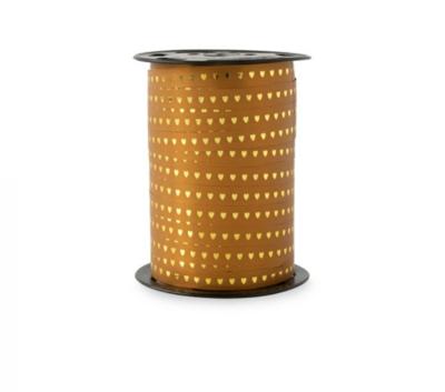 Krullint Heart - gold cognac