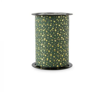 Krullint Stars - gold petrol