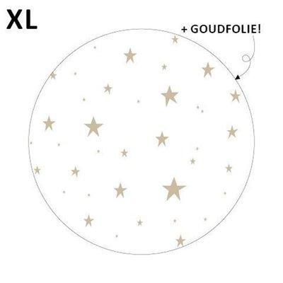 Sticker Little stars wit/goud XL