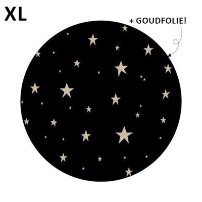 Sticker Little stars zwart/goud XL