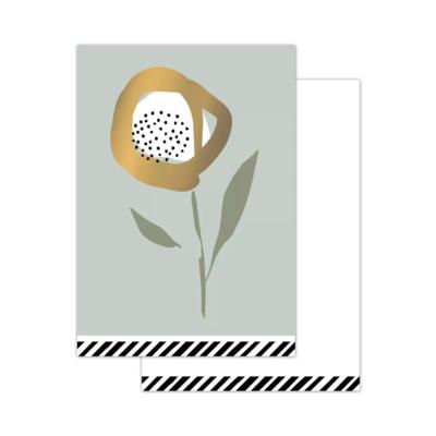 Mini kaartje Arts & crafts - Flowers sage