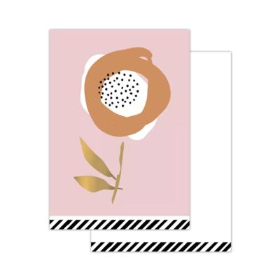Mini kaartje Arts & crafts - Flowers light pink