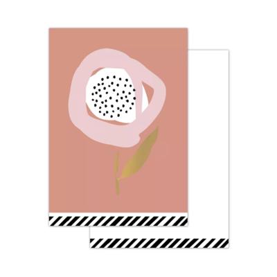Mini kaartje Arts & crafts - Flowers old pink