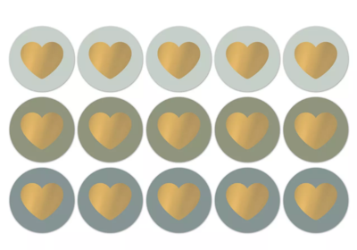 Sticker Lovely hearts fall/cool