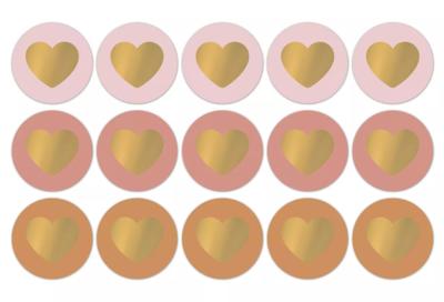 Sticker Lovely hearts fall/warm