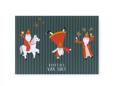 Ansichtkaart Sint acrobaat