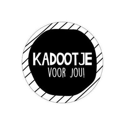 Sticker Kadootje voor jou! (stripes)