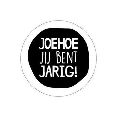 Sticker Joehoe jij bent jarig!