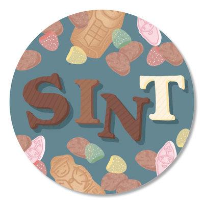 Sticker Sint (strooigoed)