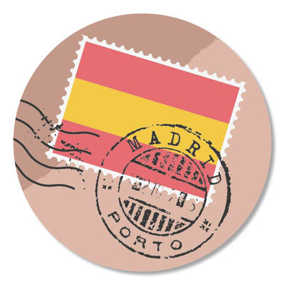 Sticker Postzegel Madrid