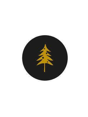 Sticker Woodland tree zwart/goud