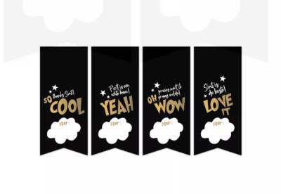 Stickers Sint '21 vaantjes zwart