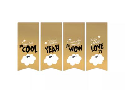 Stickers Sint '21 vaantjes goud