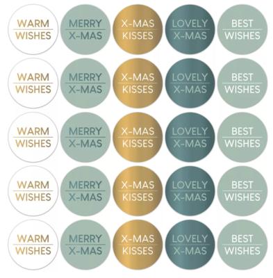 Stickers Kerstwensen cool