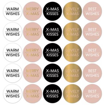 Stickers Kerstwensen warm