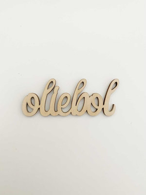 Cadeaulabel hout Oliebol