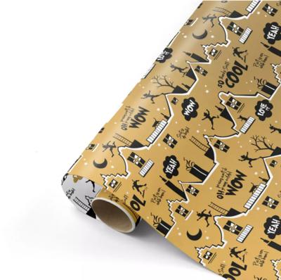 Cadeaupapier Cool Sint goud/zwart