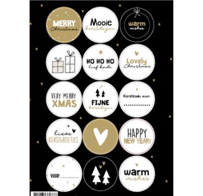 Stickervel Kerst assorti 2021