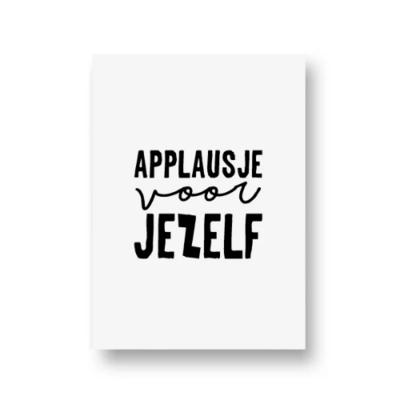 Ansichtkaart Applausje voor jezelf
