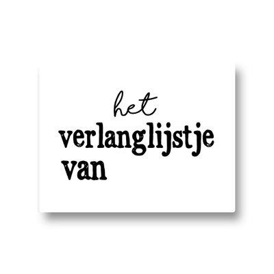 Lotsoflo Sticker Het verlanglijstje van