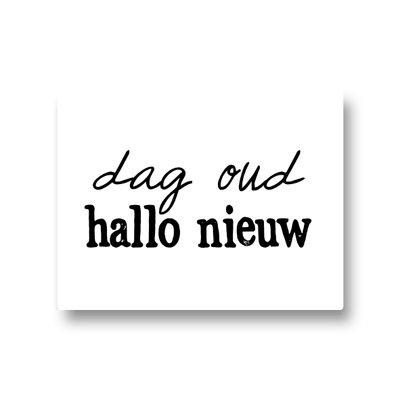 Lotsoflo Sticker Dag oud hallo nieuw