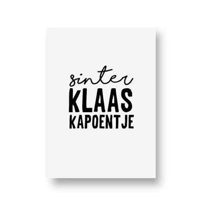 Ansichtkaart Sinterklaas kapoentje