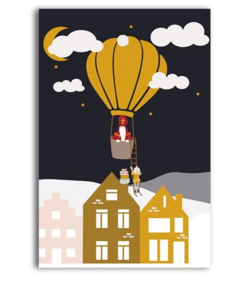 Cadeaukaartje Sint luchtballon