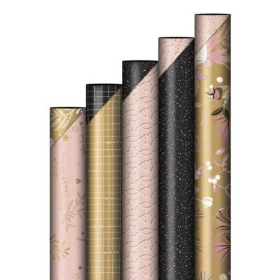 Cadeaupapier Twinkling Stars zwart/roze