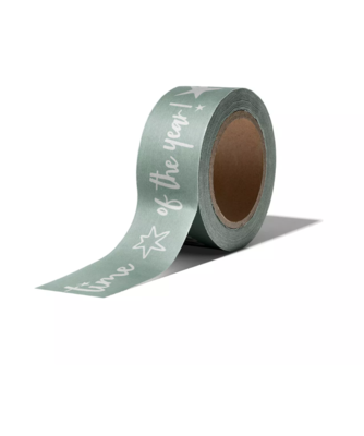 Masking tape Vintage Christmas mint/wit