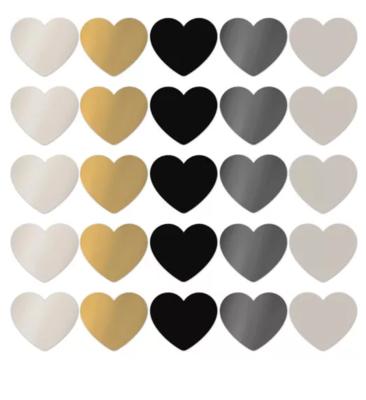 Sticker hart xl chique assorti