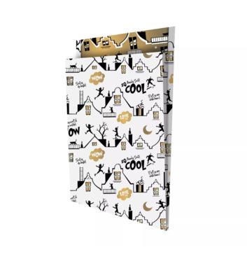 Cadeauzakjes Cool Sint wit/zwart 25 x 34 +4