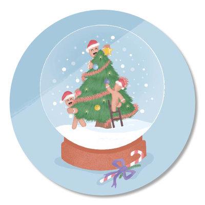 Sticker Christmas cookies schudbol