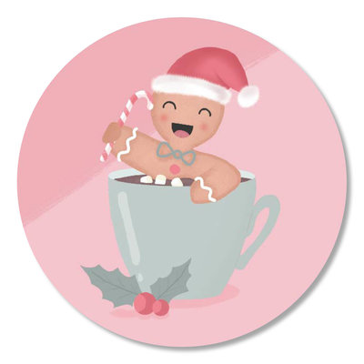 Sticker Christmas cookie kopje